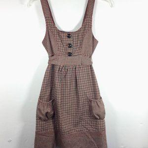 Forever 21 sleeveless red & black plaid wool dress